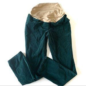 Ann Taylor Loft Green Velvet Maternity Pants